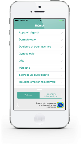 Aperçu de l'application mobile Homéo