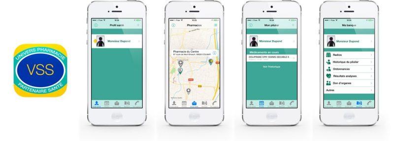 Aperçus de l'application mobile Votre Suivi Santé