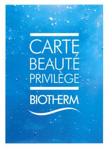 Carte de fidélité Biotherm