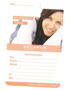 Carte de fidélité Delarom
