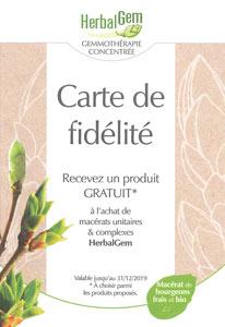 Carte de fidélité Herbalgem