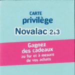 Carte de fidélité Novalac