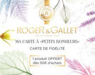 Carte de fidélité Roger et Gallet.