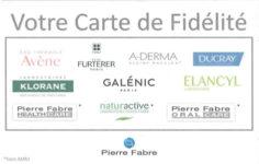 Carte de fidélité Pierre Fabre (DOM-TOM)