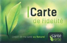 Carte de fidélité Santé Verte